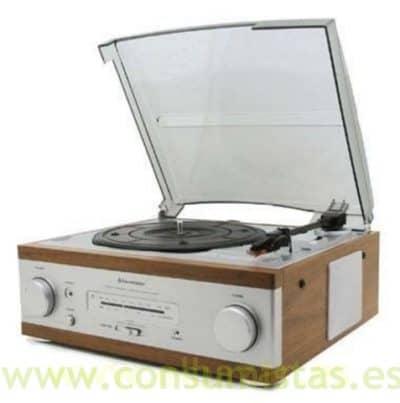 Tocadiscos estilo retro con radio consumistas - Plato discos vinilo ...