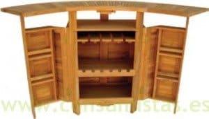 Barra de bar madera de teca plegable para exterior for Diseno de barras de bar en madera
