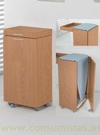 Tabla armario plegable para plancha consumistas for Mueble tabla planchar